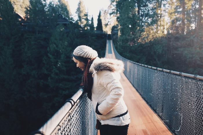 walk on bridge