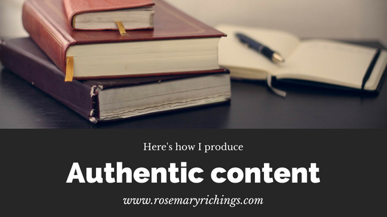 My take on producing authentic content online
