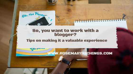 Tips for beginners on working with a blogger